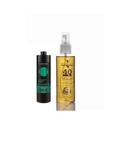 Eugene Perma Eugene Perma Essentiel Keratin Force Dökülme Önleyici Şampuan 1000 Ml+Biomega 40 Bitkili Doğal Saç Bakım Yağı 150 Ml Renksiz